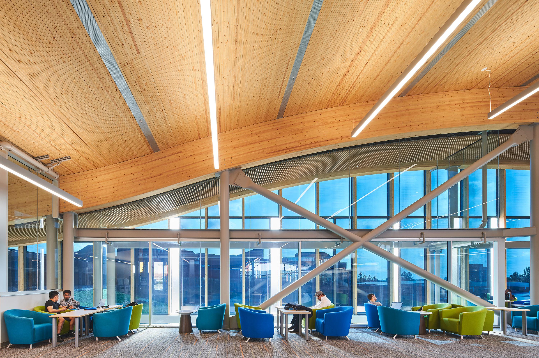 This is a picture of Algonquin DARE District interior at Algonquin College in Ottawa, Canada.