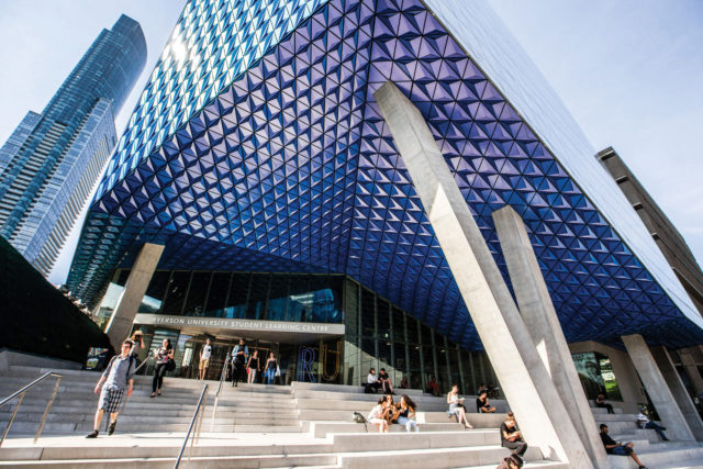Picture of the Ryerson Student Learning Centre at Ryerson University.