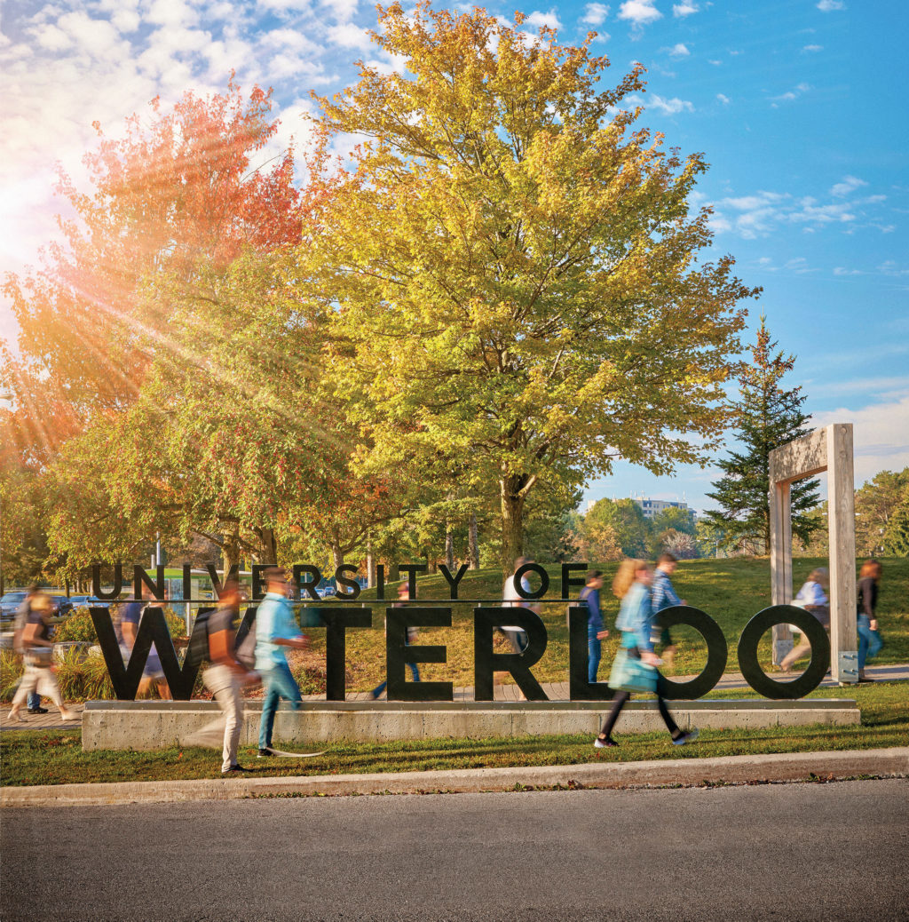 University of Waterloo Outdoor sign