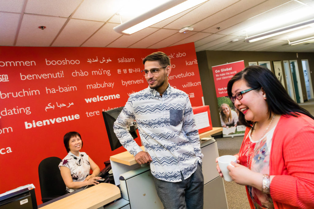 This is a picture of York University reception