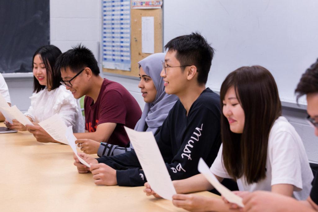 York University students in class.