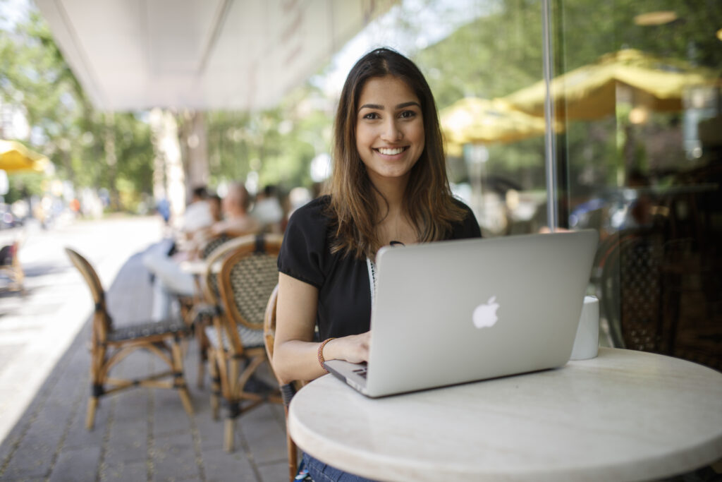 Ryerson University student at coffee shop